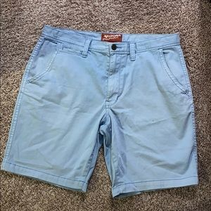Men's light blue kaki shorts